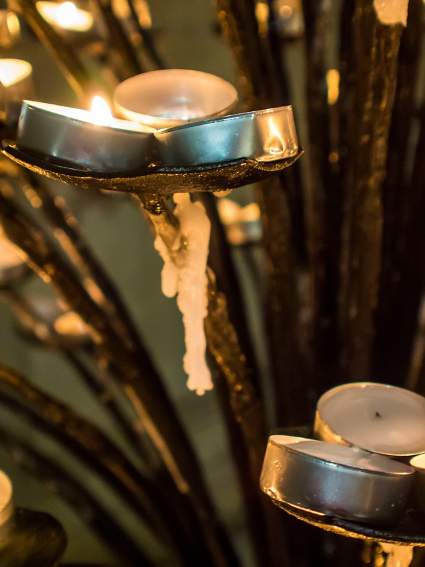 Candles inside Santa Maria di Fiori